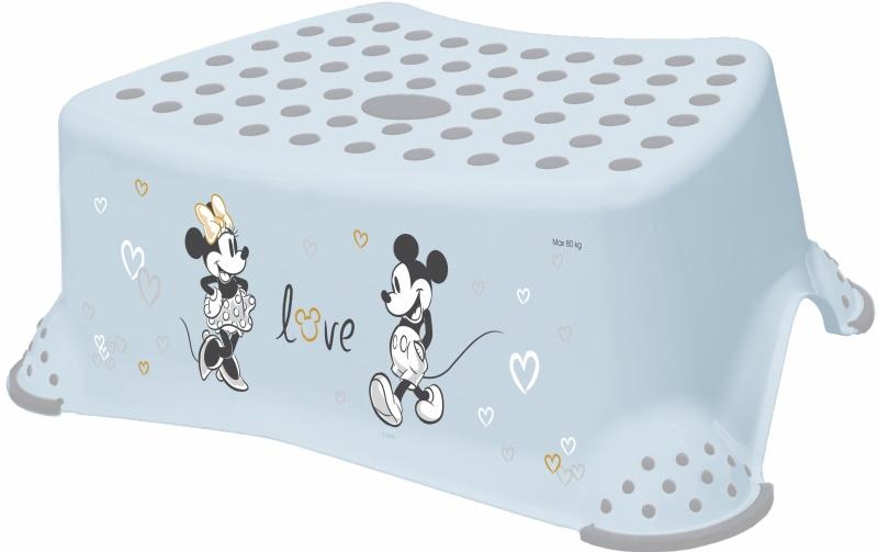 Keeeper Stolička, schůdek s protiskluzovou funkcí - Mickey Mouse, modrý