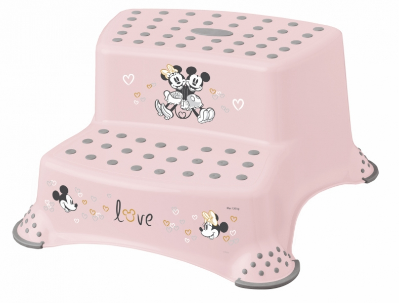 Keeeper Stolička - schůdky s protiskluzovou funkcí - Minnie Mouse, růžová