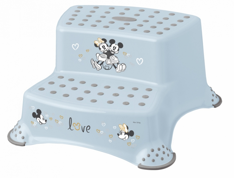 Keeeper Stolička - schůdky s protiskluzovou funkcí - Mickey Mouse, modrá