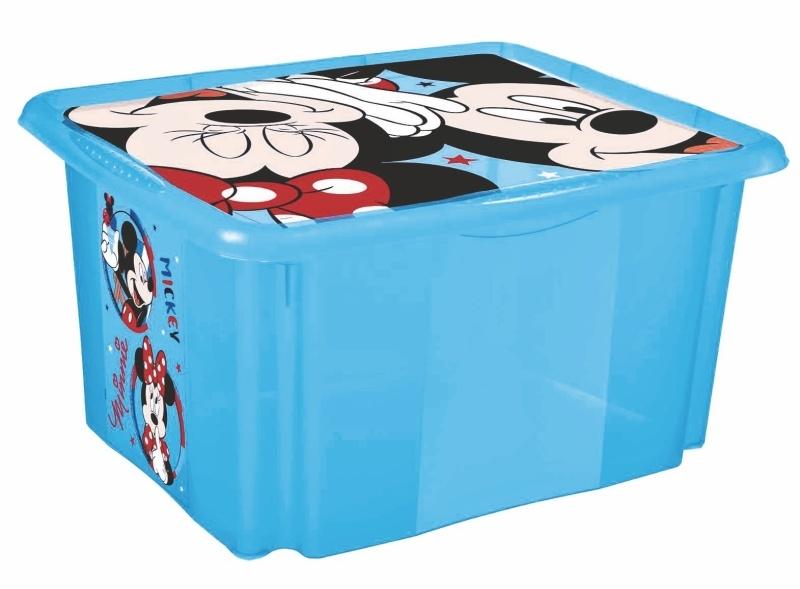 Keeeper Box na hračky Mickey Mouse 24 l - modrý
