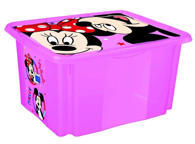 Keeeper Box na hračky Minnie Mouse 45 l, růžový