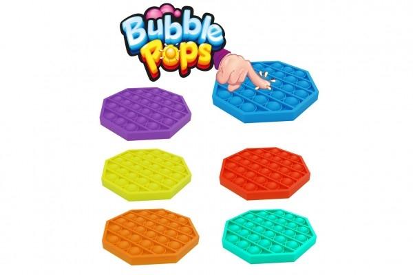Bubble pops - Praskající bubliny silikon antistresová spol. hra fialová