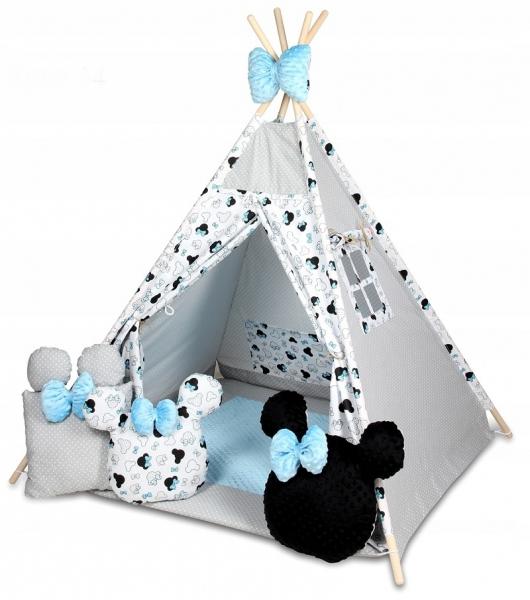 Baby Nellys Stan pro děti týpí s velkou výbavou,Minnie, bílá, černá, modrá