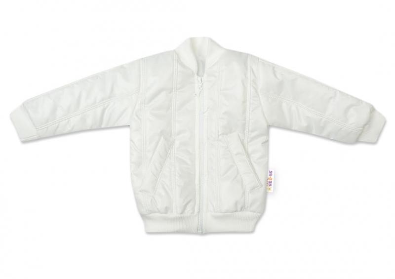 Baby Nellys Kojenecká prošívaná přechodová bunda, bílá, vel. 62