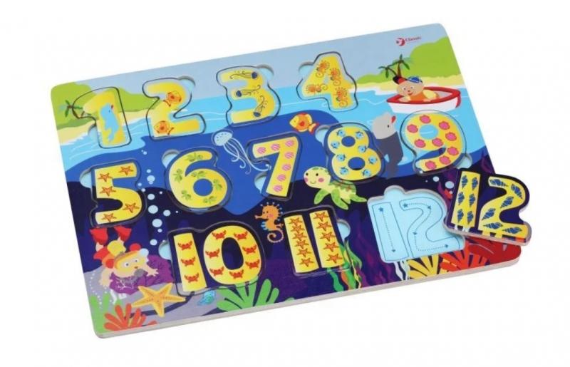 Classic world Naučné dřevěné puzzle - čísla