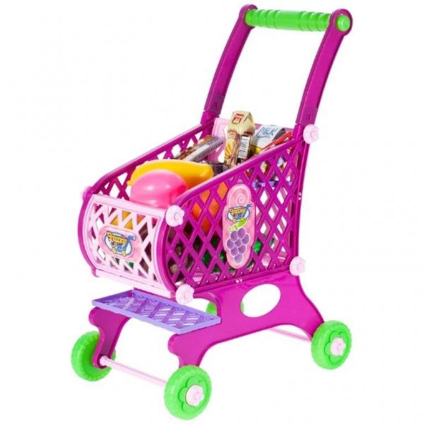 Tulimi Nákupní vozík s potravinami - růžový