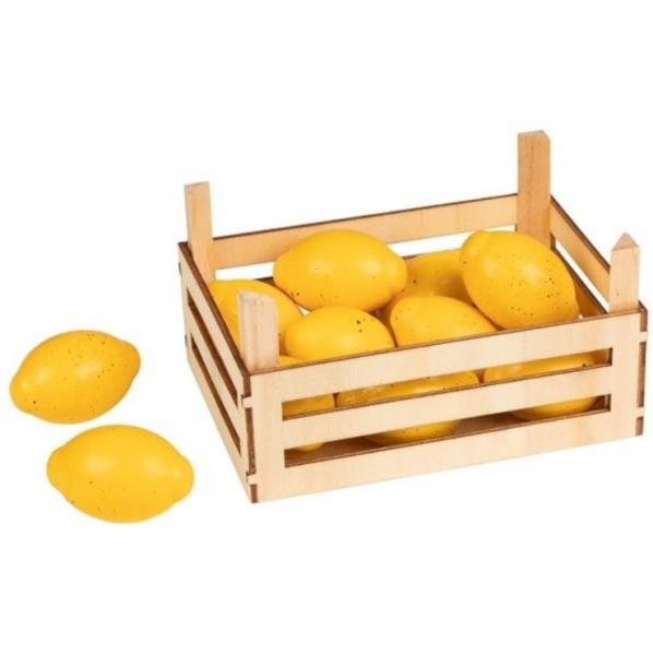 Goki Dřevěný košík s citróny