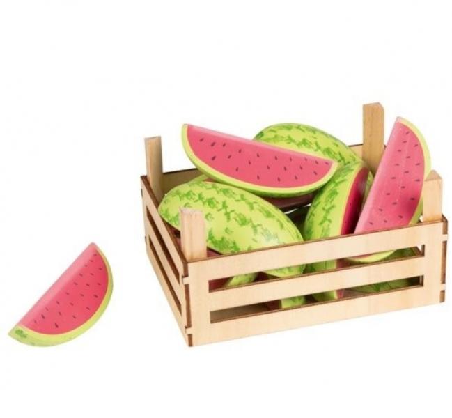 Goki Dřevěný košík s melouny