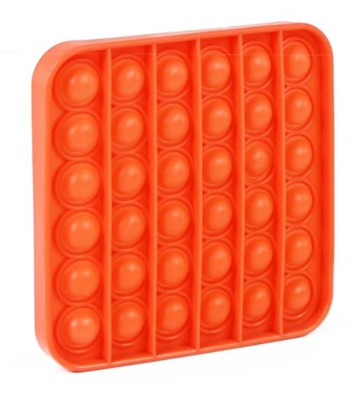 Pop It - Praskající bubliny silikon antistresová spol. hra, čtverec, oranžová