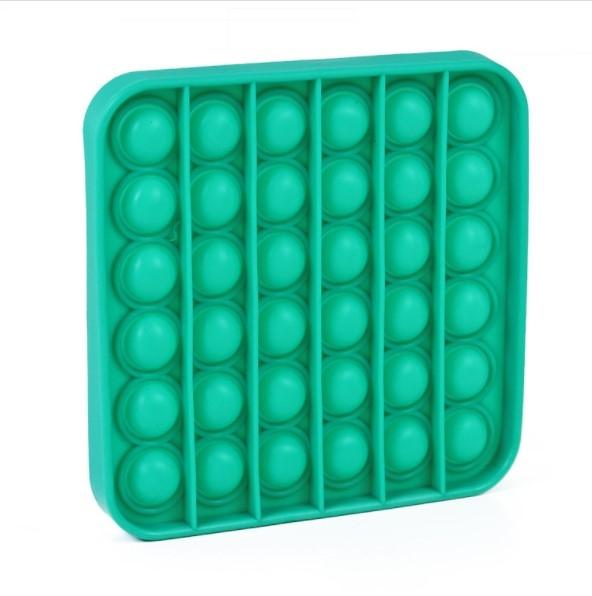 Pop It - Praskající bubliny silikon antistresová spol. hra, čtverec, zelená