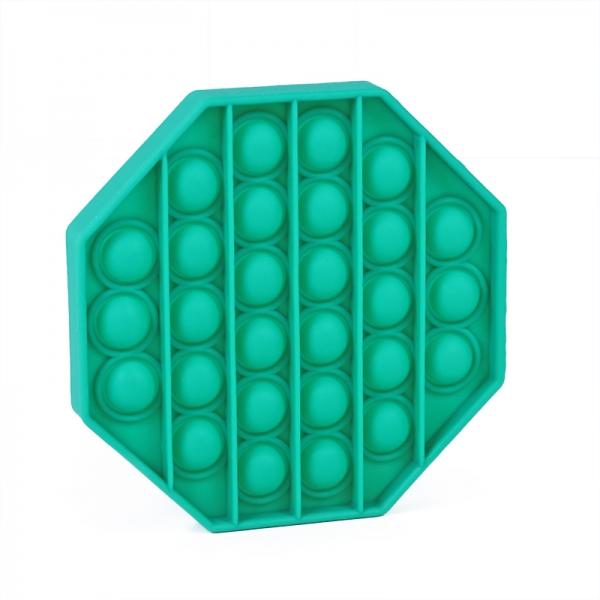 Pop It - Praskající bubliny silikon antistresová spol. hra, osmihran, zelená