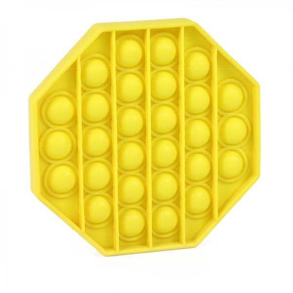 Pop It - Praskající bubliny silikon antistresová spol. hra, osmihran, žlutá