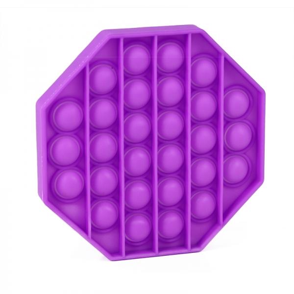 Pop It - Praskající bubliny silikon antistresová spol. hra, osmihran, fialová