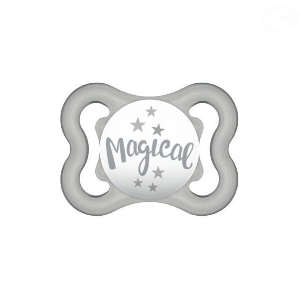 Symetrický dudlík Mam Air 2 - 6 m - Magical, šedý