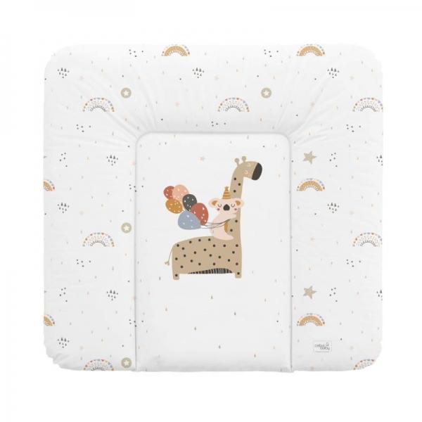 Ceba Baby Přebalovací podložka Giraffe - měkka, 75 x72 cm