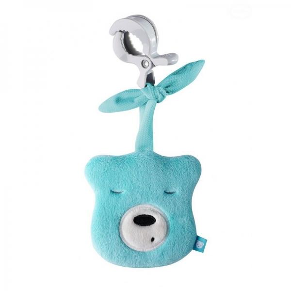 Szumisie Mini šumící Medvídek - hlava s klipem- tyrkysová