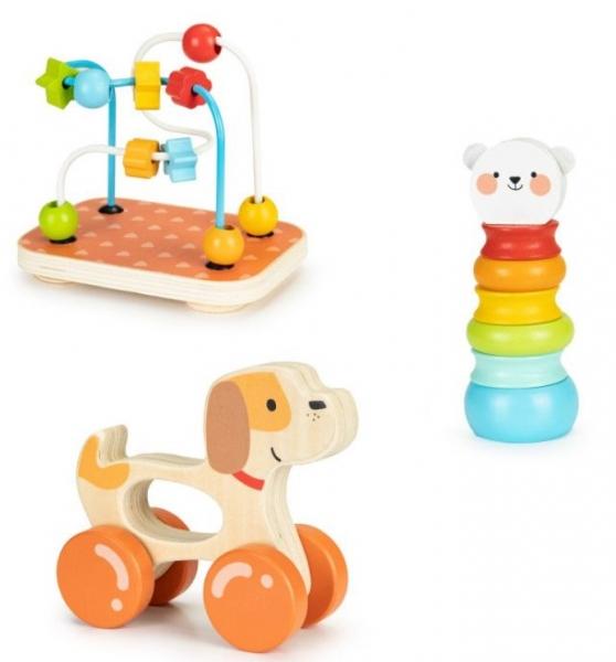 ECO TOYS Sada dřevěných vzdělávacích hraček 3v1