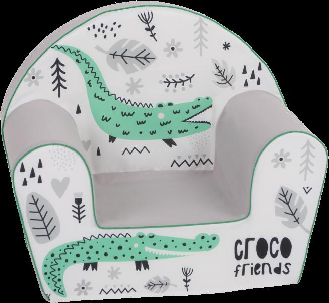 Delsit Dětské křesílko, pohovka - Croco Friends