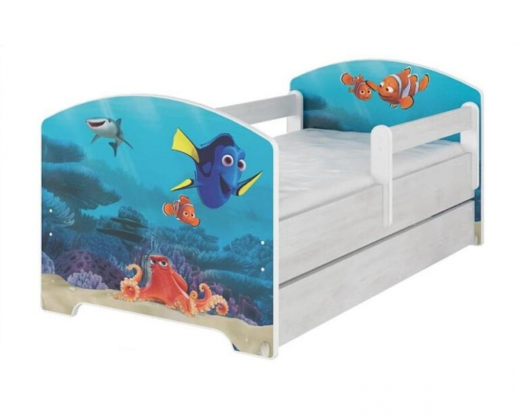 BabyBoo Dětská postel 140 x 70cm - Dorry + šuplík