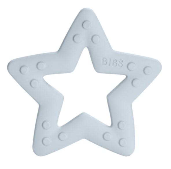 BIBS Baby Bitie Star Blue - Silikonové kousátko Hvězdička - modrá