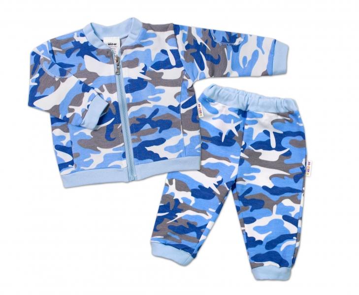 BABY NELLYS Kojenecká tepláková souprava Army, modrá, Velikost: 62 (2-3m)