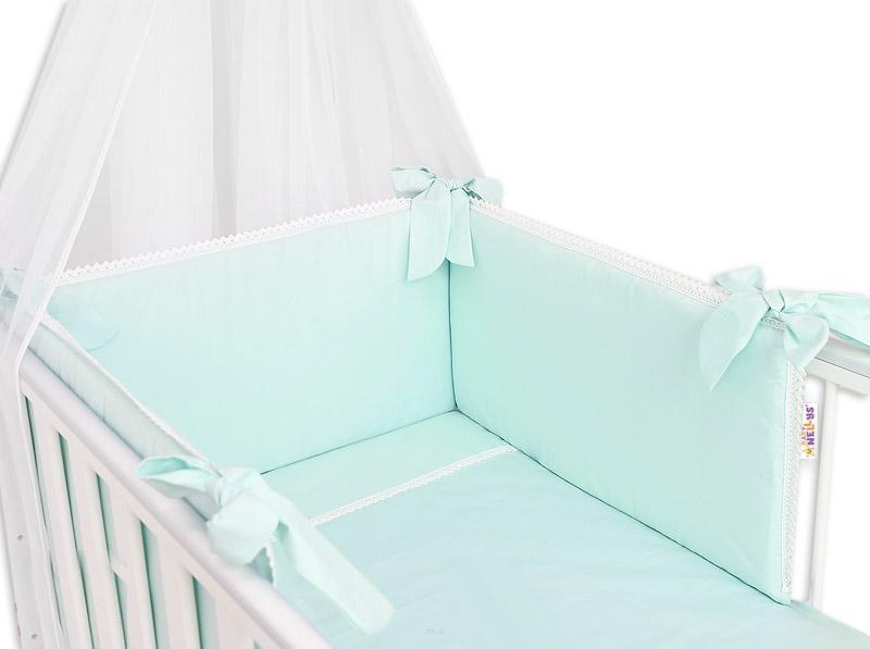 Baby Nellys Luxusní 3-dílná sada Mantinel s povlečením Royal Baby - mátová