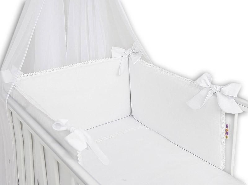 Baby Nellys Luxusní 3-dílná sada Mantinel s povlečením Royal Baby - bílá