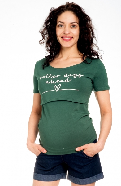Be MaaMaa Těhotenské kraťasy Jeans - granát, vel. M, Velikost: M (38)