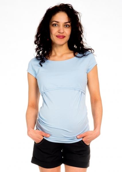 Be MaaMaa Těhotenské kraťasy Jeans - černé, vel. L, Velikost: L (40)