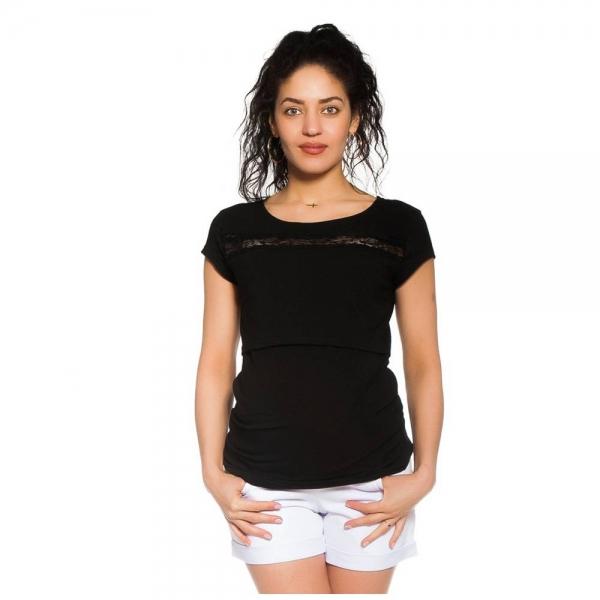 Be MaaMaa Těhotenské kraťasy Jeans - bílé, vel. M, Velikost: M (38)