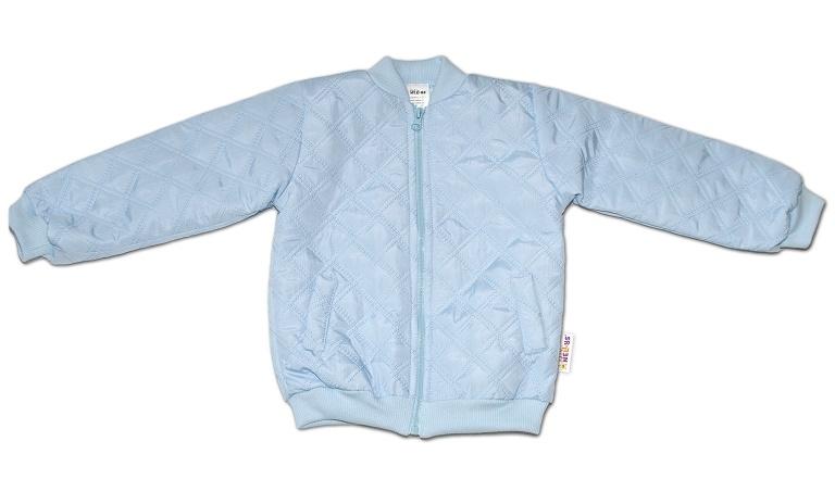 Baby Nellys Dětská prošívaná přechodová bunda, světle modrá, vel. 86