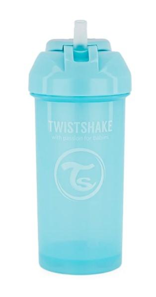 Láhev s brčkem Twistshake - 6m+, 360 ml, modrá