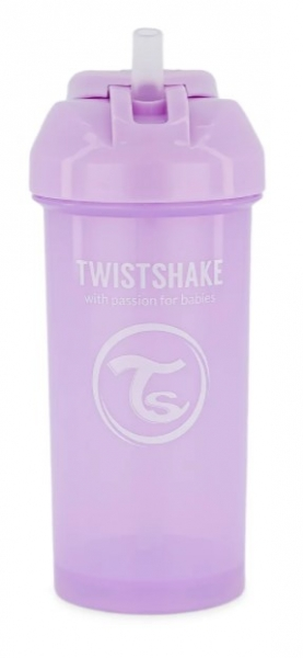 Láhev s brčkem Twistshake - 6m+, 360 ml, fialová