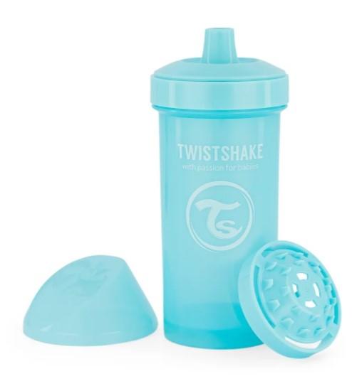 Láhev pro děti Twistshake se sítkem, 12 m+, 360 ml, modrý