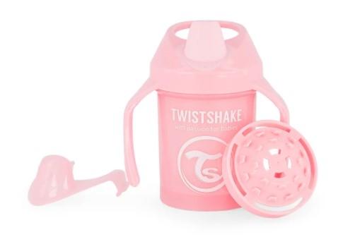 Nekapající hrneček Twistshake  se sítkem, 4m+, 230ml, růžový