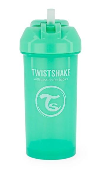 Láhev s brčkem Twistshake - 6m+, 360 ml, zelená