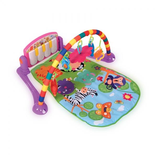 Hrací deka s hrazdou Lorelli PIANO PINK