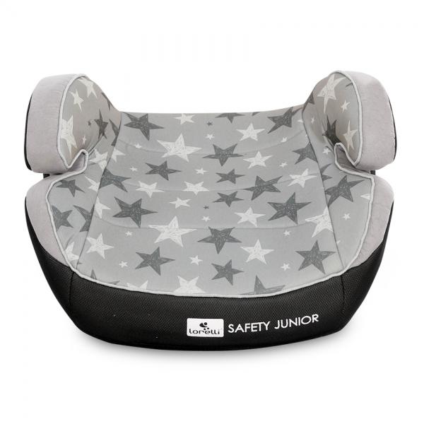 Autosedačka Lorelli SAFETY JUNIOR FIX ANCHORAGES 15-36KG GREY STARS