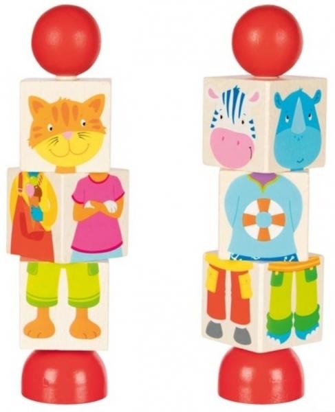 Goki Dřevěné otáčecí puzzle - zvířátka