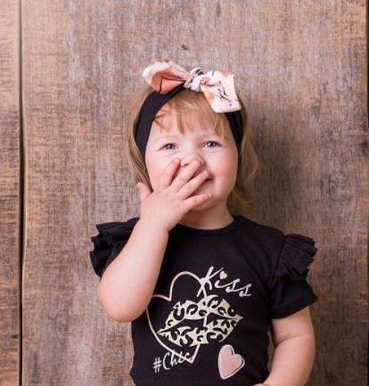 G-Baby Čelenka s mašlí Kiss - smetanová, 1-2 roky
