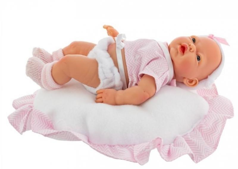 Nines Luxusní panenka  Golosinas na polštářku s vůní vanilky - 26 cm
