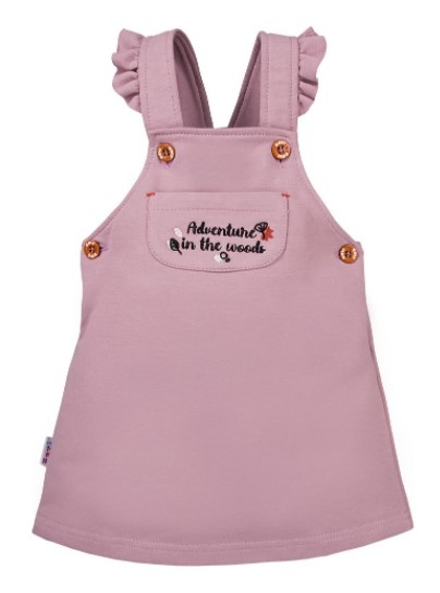 EEVI Dívčí šaty s laclem Adventure - fialová