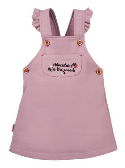 EEVI Dívčí šaty s laclem Adventure - fialová, vel. 92