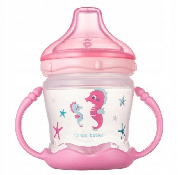 Canpol babies Nevylévací hrníček Sweet Fun - Love sea- růžový