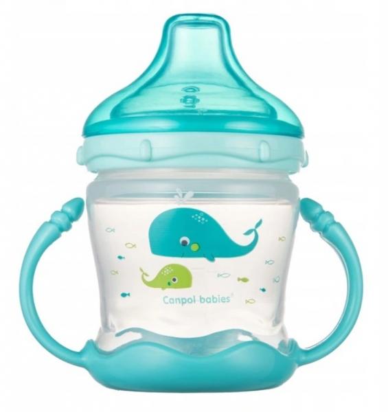 Canpol babies Nevylévací hrníček Sweet Fun - Love sea- modrý