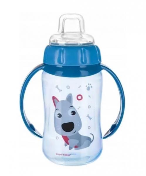 Canpol Babies hrneček s úchyty Pejsek - modrý