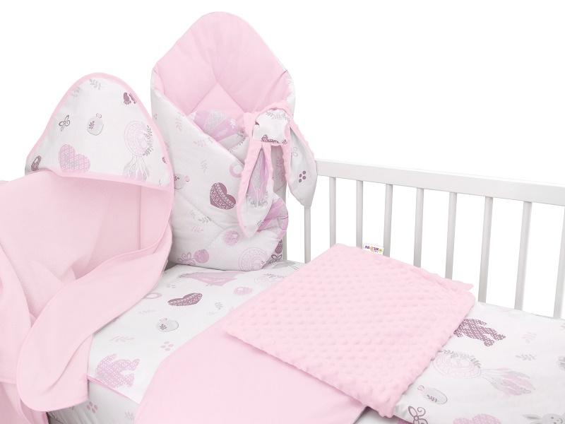 Baby Nellys 6-ti dílná výhod. sada s dárkem pro miminko, 120 x 90 - New Love Baby, růžová