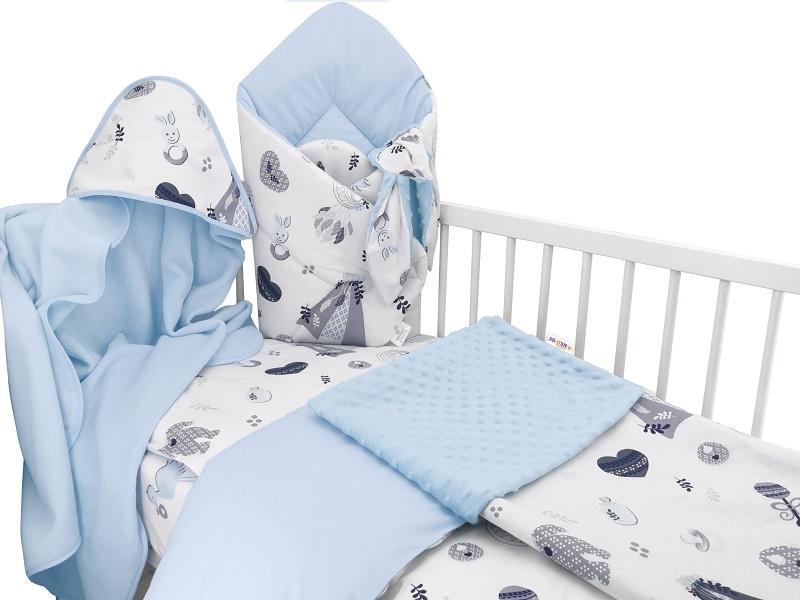Baby Nellys 6-ti dílná výhod. sada s dárkem pro miminko, 120 x 90 - New Love Baby, modrá