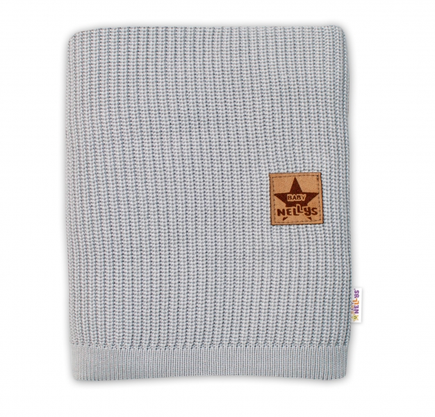 Baby Nellys Luxusní bambusová dětská deka, 75x100 cm, šedá