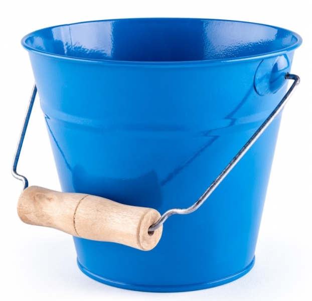 Woody Plechový kyblík na písek - modrý